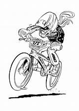 Bmx Bike Coloring Bikes Bicycle Ramp Sketsa Sepeda Gambar Biking Drawing Racing Mountain Cam Bici Crisp Bobs Cartoon Dessin Drawings sketch template
