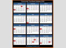 Community Trust Bank US Holidays 2016 – Holidays Tracker