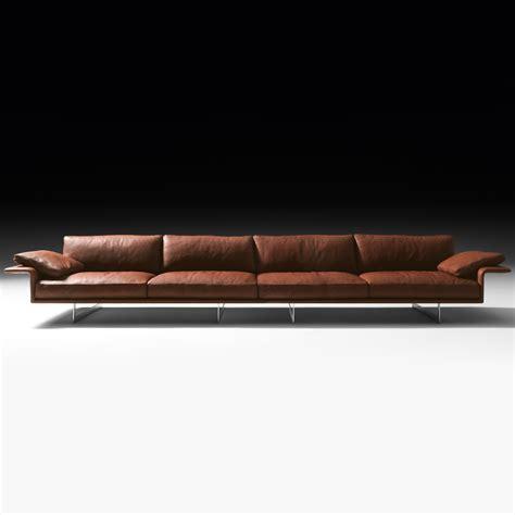 modern italian leather sofa large leather contemporary italian sofa