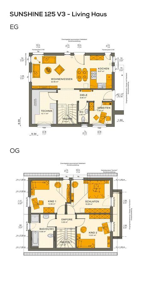 Einfamilienhaus Classic Living 125 by Grundriss Einfamilienhaus Modernes Design Mit Satteldach
