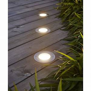 spot a encastrer exterieur linares diam 12 cm plastique With carrelage adhesif salle de bain avec luminaire solaire led