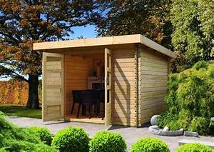 Gartenhaus 28 Mm Pultdach : woodfeeling gartenhaus pultdach bastrup 5 28 mm mit 3 m ~ Whattoseeinmadrid.com Haus und Dekorationen
