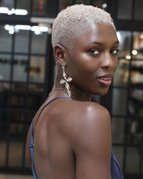 Black Women Dark Skin Natural Hair Short Hair Big Chop