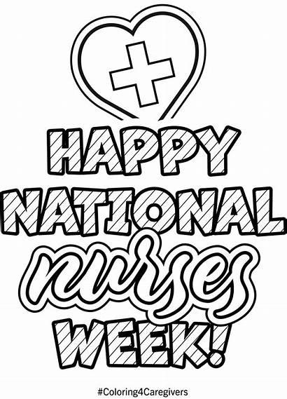 Week Coloring Nurses National Ehob Workers Activity