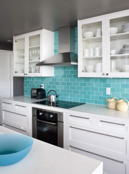 turquoise kitchen tiles the real teal k 246 k inredning och house 2970
