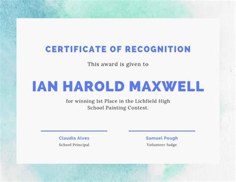 customize  award certificate templates  canva