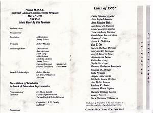 1995 Graduation Program  U2013 Project M O R E  Alumni