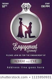 Engagement Invitation Images Stock Photos & Vectors