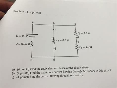 Points Find The Equivalent Resistance