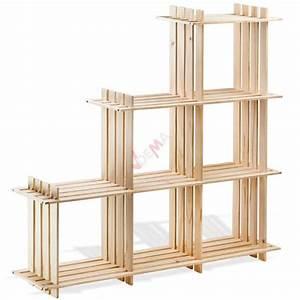 Etagere En Pin : etag re en bois 6 rangements pin massif rangement ~ Teatrodelosmanantiales.com Idées de Décoration