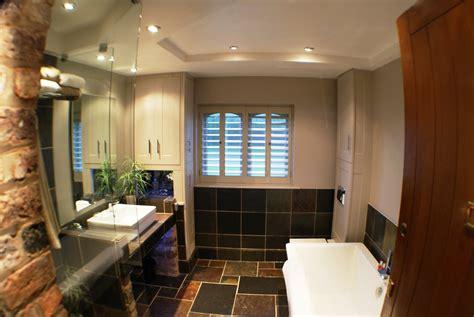 finished  spacious bathroom  plenty  storage