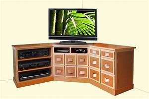 Meuble Tv Hifi : meuble hifi d angle meuble tv bas en bois maisonjoffrois ~ Teatrodelosmanantiales.com Idées de Décoration