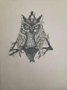 Triangle Owl Drawing Tattoo