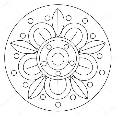 mandala da colorare immagini grandi disegni da colorare mandala grande fiore vettoriali