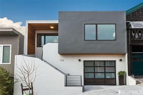 modern gray  white stucco siding san francisco mid