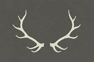 Image Gallery moose antlers vector