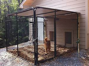 House plans attached dog run the k9kennel series for Dog run outdoor kennel house