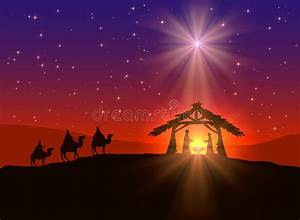 Christian Christmas Background With Star Stock Vector ...