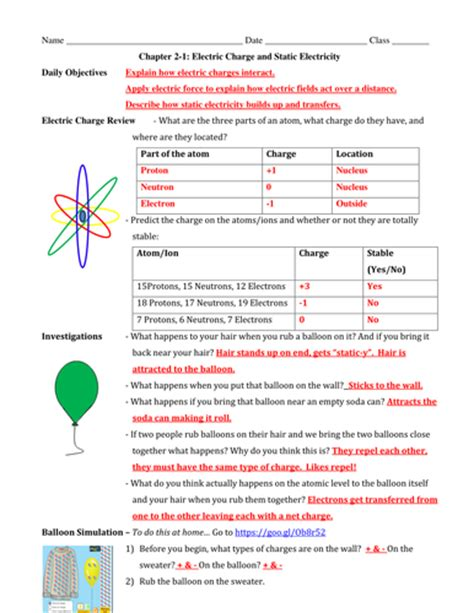 section 1 electric charge 2 1 electric charge static electricity powerpoint