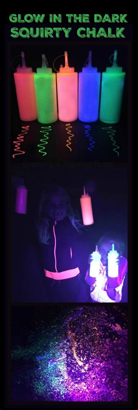 glow   dark squirty chalk growing  jeweled rose