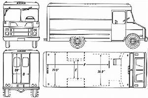 car blueprints chevrolet step blueprints vector With 1949 chevy step van