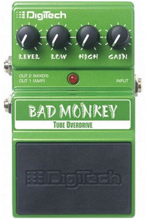 digitech dbm bad monkey tube overdrive effects