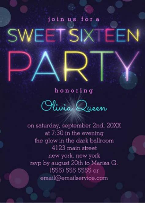30+ Sweet Sixteen Invitation Templates Free PSD Vector