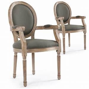 Chaise Louis Xvi : chaise m daillon louis xvi tissu gris ~ Teatrodelosmanantiales.com Idées de Décoration