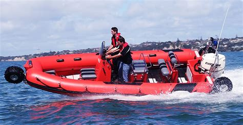 hibious rescue vehicle sealegs speedboat an amphibious rescue vehicle