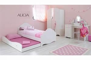 Enfant Lit Fille : chambre coucher fille chic glamour pour chambre enfant compl te ~ Teatrodelosmanantiales.com Idées de Décoration