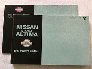 1993 Nissan Altima And Stanza Owners Manual