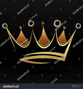 Gold Abstract Crown Graphic Design Logo Stock Vector ...