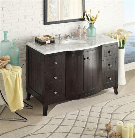 adelina 49 inch contemporary single sink bathroom vanity