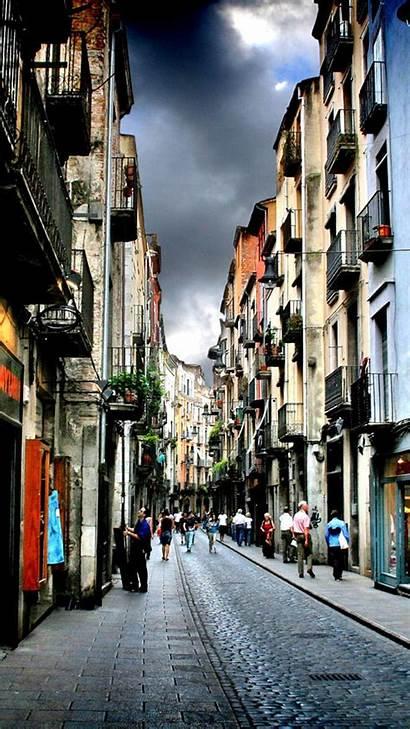 Spain Street Girona Iphone Narrow Android Plus
