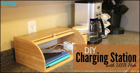 diy charging station organizer  usb hub german pearls