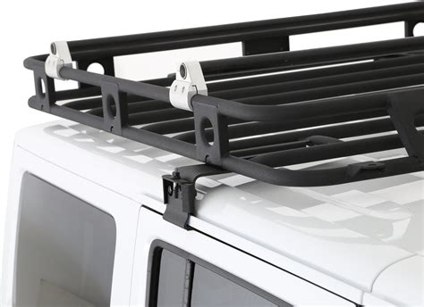 smittybilt roof rack smittybilt 45454 defender roof rack for 07 17 wrangler