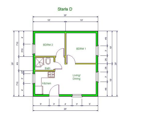 apt floor plan starla model  floor plan