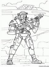 Soldier Coloring Pages Future Colorkid Futuristic Wars sketch template