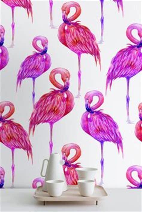 lagon flamant rose gris corail papier peint arthouse