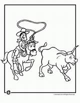 Coloring Cattle Ranch Template Cow Roping sketch template