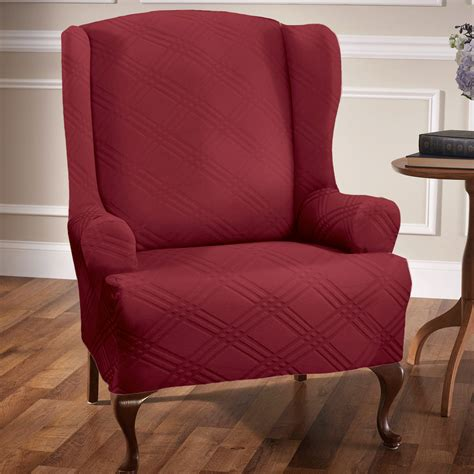 double diamond stretch wing chair slipcovers