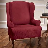 chair slip cover Double Diamond Stretch Wing Chair Slipcovers