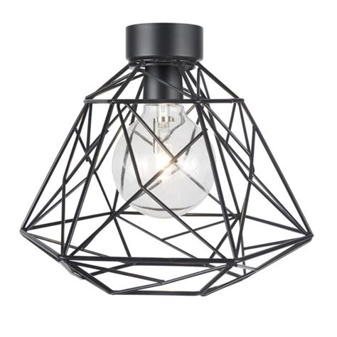 brilliant trinity geometric wire ceiling batten light fitting black 26 5cm b1 for sale ebay