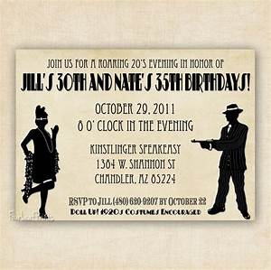 roaring 192039s flapper and gangter birthday invitation With roaring twenties invitation template