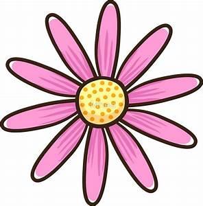 Pink Flower Cartoon 101 Clip Art