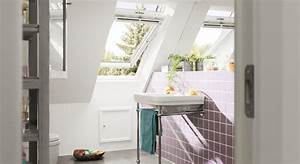 idees pour la salle de bains avec des fenetres de toit velux With velux pour salle de bain