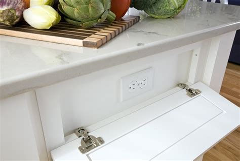 Hidden Outlets   Transitional   kitchen   Wentworth Studio