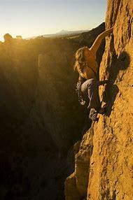 Katie Brown Rock Climbing