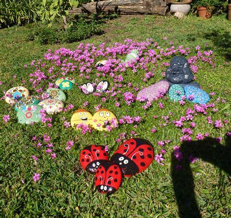 Piedras Pintadas Para Adornar El Jardín  Ideas Para