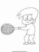 Tennis Coloring Racket Printable Getcolorings Pages sketch template